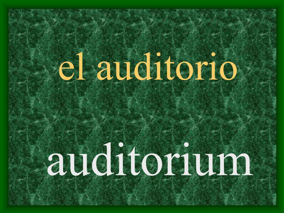 el auditorio auditorium