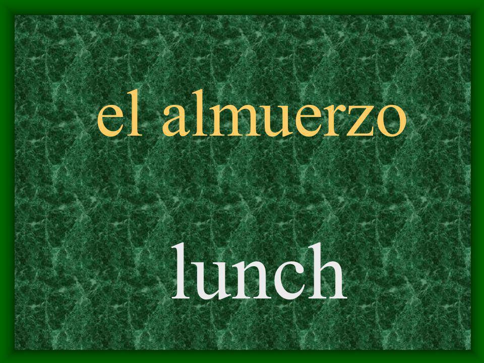 el almuerzo lunch