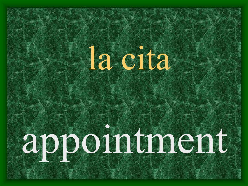 la cita appointment