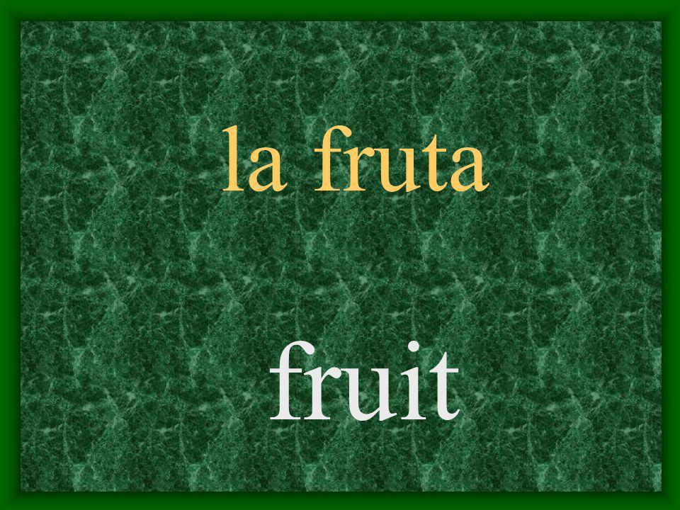 la fruta fruit