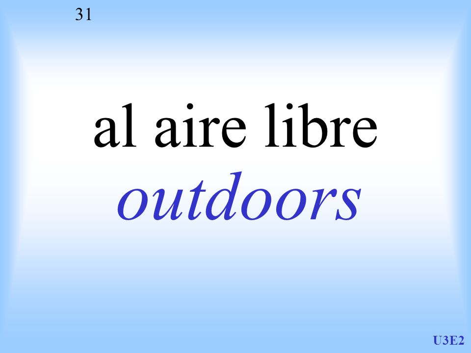 U3E2 31 al aire libre outdoors