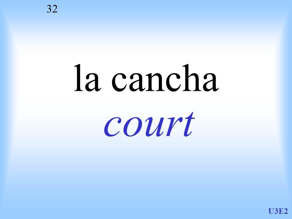 U3E2 32 la cancha court