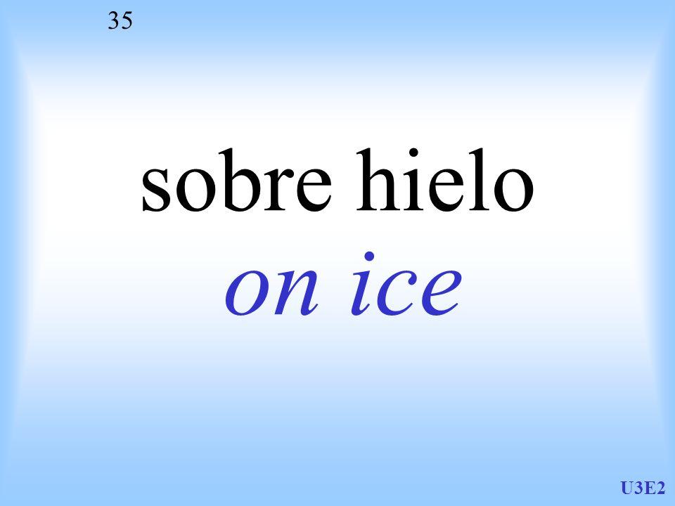 U3E2 35 sobre hielo on ice