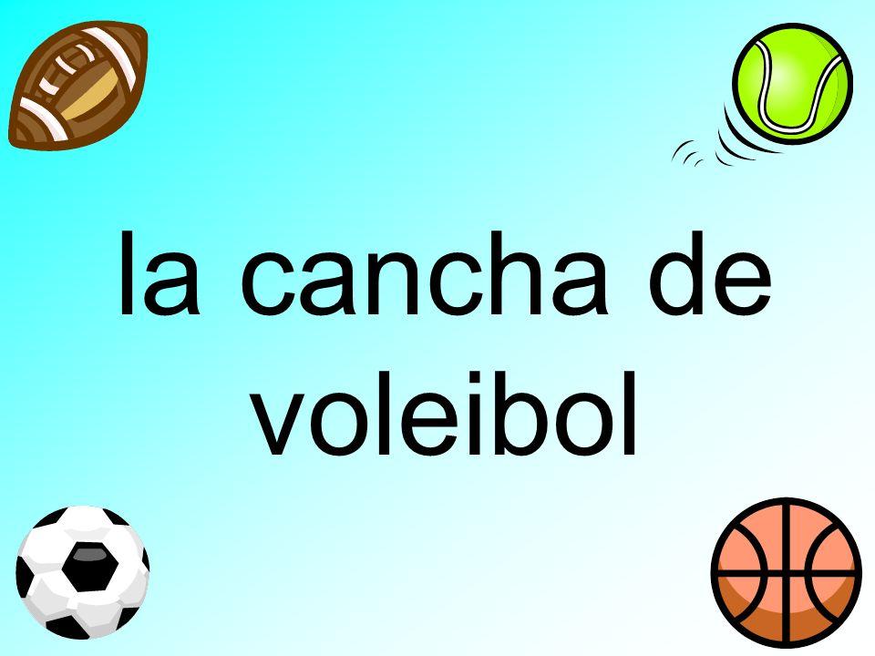 la cancha de voleibol