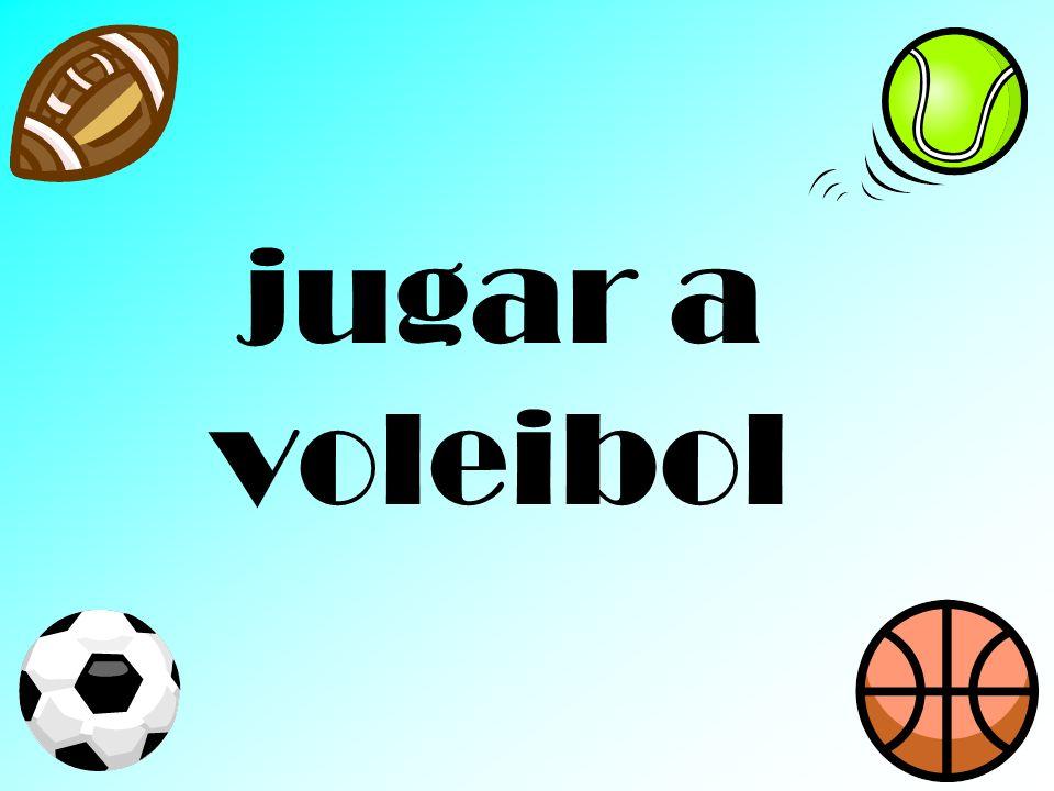 jugar a voleibol