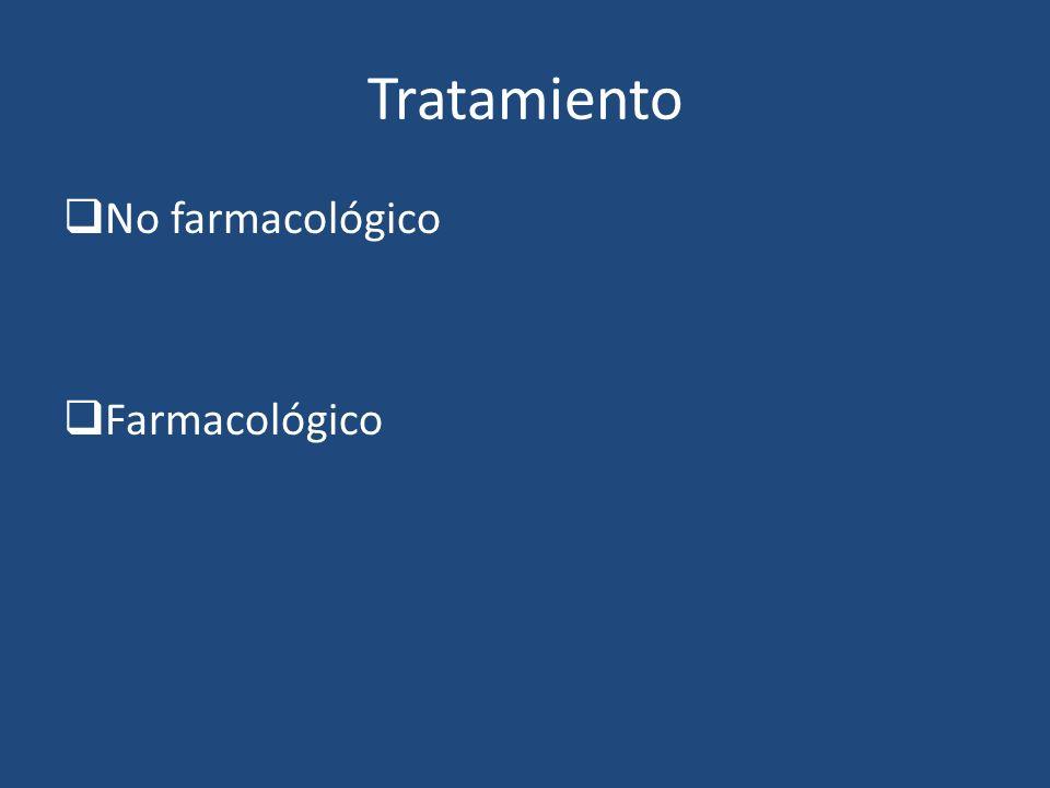 Tratamiento No farmacológico Farmacológico
