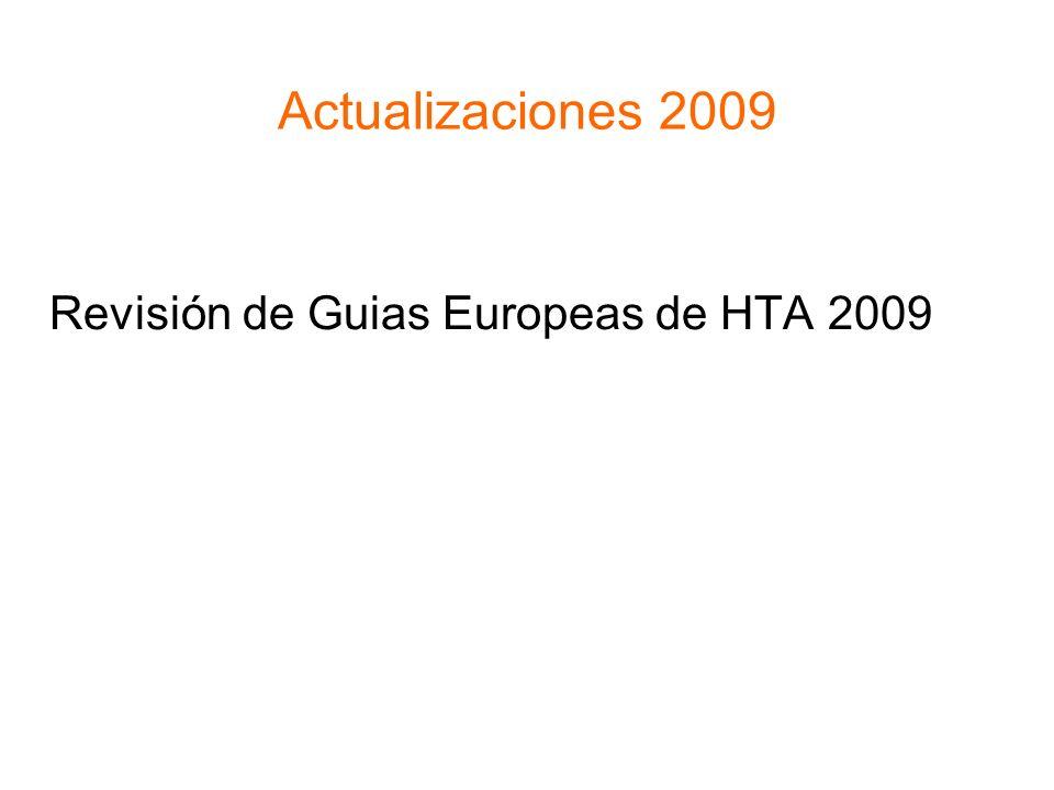 Actualizaciones 2009 Revisión de Guias Europeas de HTA 2009