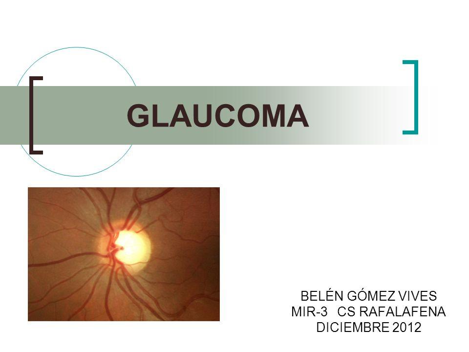 DEFINICIÓN Neuropatía óptica degenerativa crónica, que produce una del campo visual (sobretodo, visión periférica) y, finalmente, si no se trata, ceguera irreversible.
