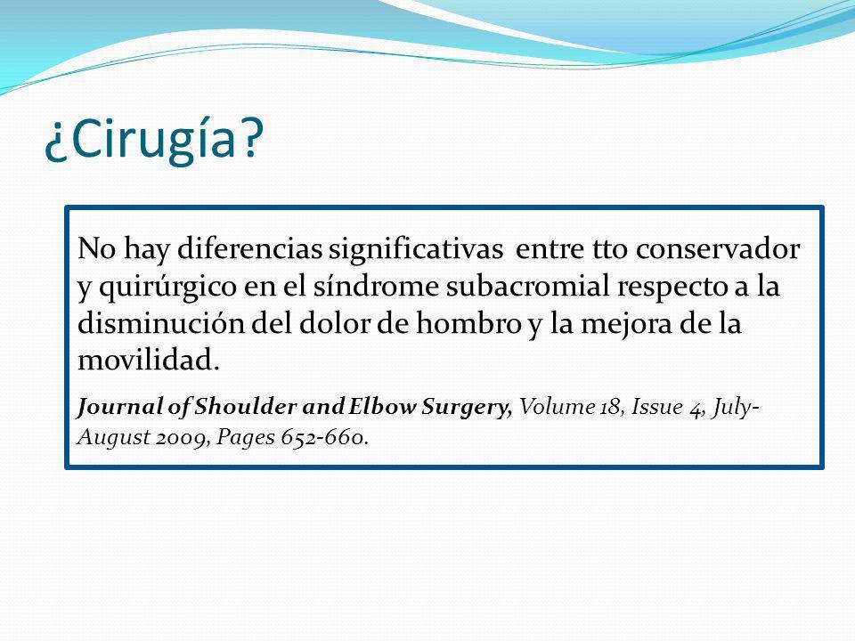 ¿Cirugía.