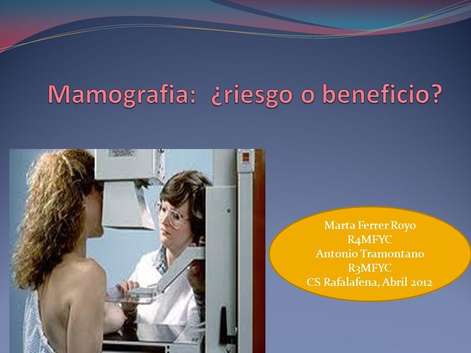 Actuación según riesgo RIESGO BAJO Mamografía bianual desde los 50 hasta los 69 años.