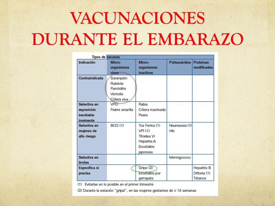 VACUNACIONES DURANTE EL EMBARAZO