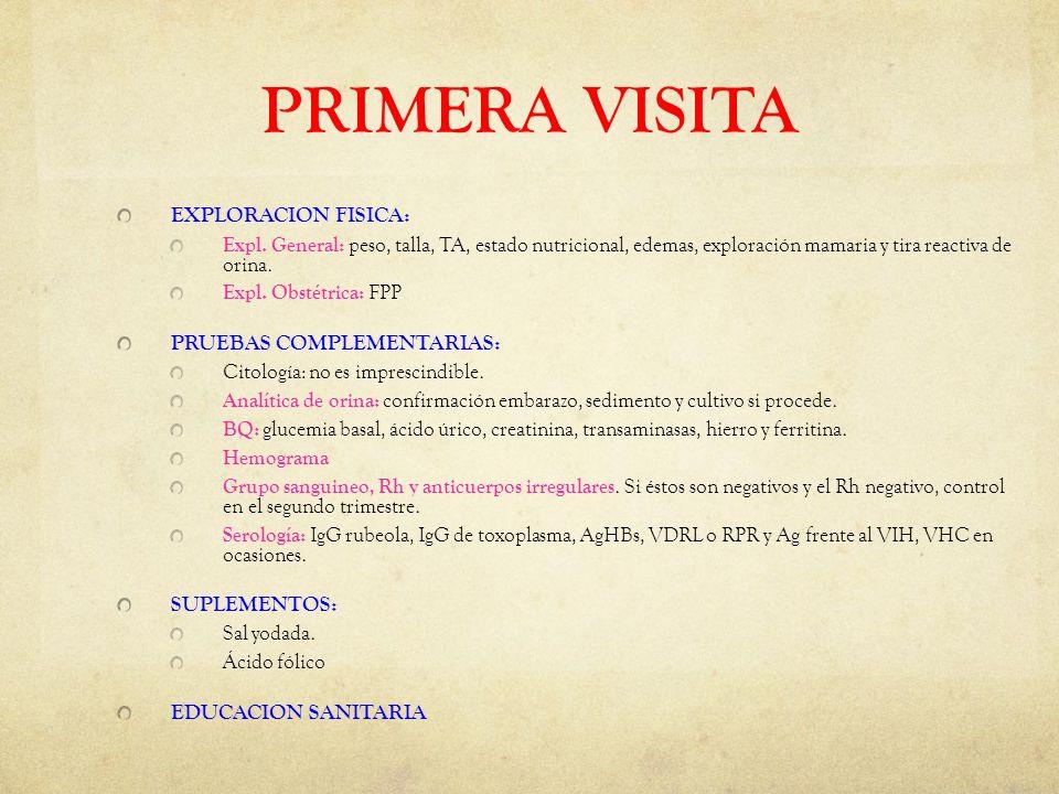 PRIMERA VISITA EXPLORACION FISICA: Expl.