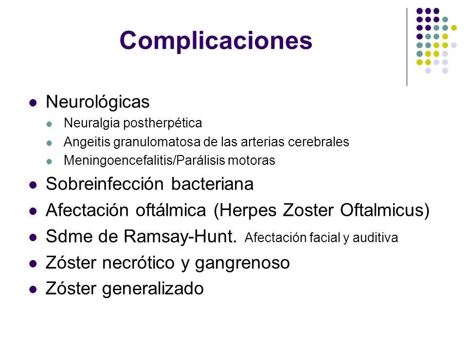 Tratamiento Medidas generales Soluciones astringentes/Analgésicos ( No AINES) Tópico No indicado ( Excepto HZOft) Sistémico Antivirales Corticoides Antidepresivos tricíclicos