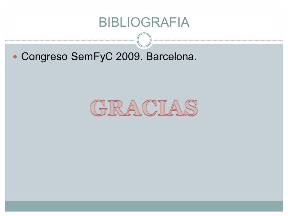 BIBLIOGRAFIA Congreso SemFyC 2009. Barcelona.