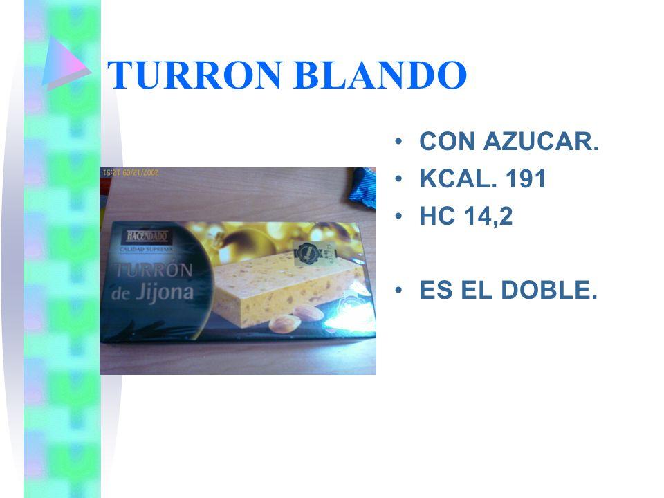 TURRON YEMA TOSTADA CON AZUCAR. 300GR. RACION 37 GR, 170 KCAL. 16,2 GR HC