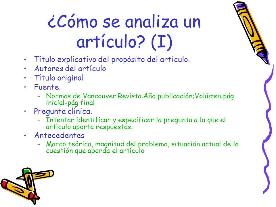 ¿Cómo se analiza un artículo.(II) Población estudiada y ámbito de estudio.