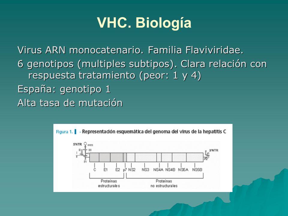 Prevención primaria VHB Prevención TRANSMISIÓN VERTICAL (madre-hijo) 1.Cribado embarazada (al menos 3º T) 2.RN de madre portadora: vacuna + Ig antihepatitis B en primeras 12-24 h 3.No se contraindica lactancia materna en estas condiciones 4.Control HBsAg tras 3º dosis vacuna Si madre HBeAg (+): riesgo 70-90% infección si no recibe profilaxis Si madre HBeAg (-): riesgo 10% (incluso sin profilaxis)