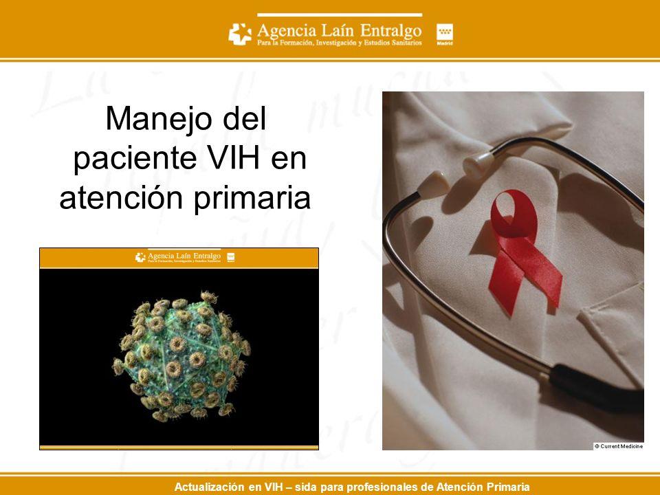 Actualización en VIH – sida para profesionales de Atención Primaria Manejo del paciente VIH en atención primaria