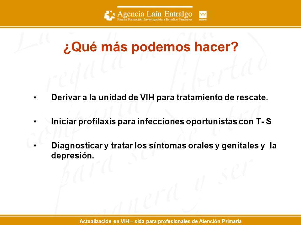 Actualización en VIH – sida para profesionales de Atención Primaria ¿Qué más podemos hacer.