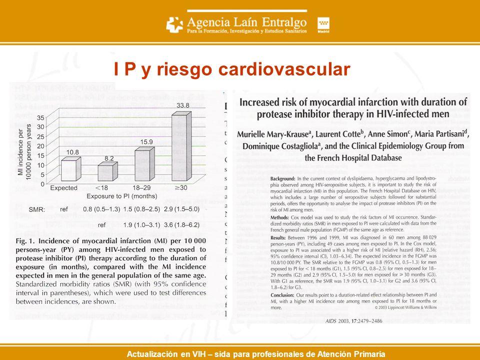 Actualización en VIH – sida para profesionales de Atención Primaria I P y riesgo cardiovascular