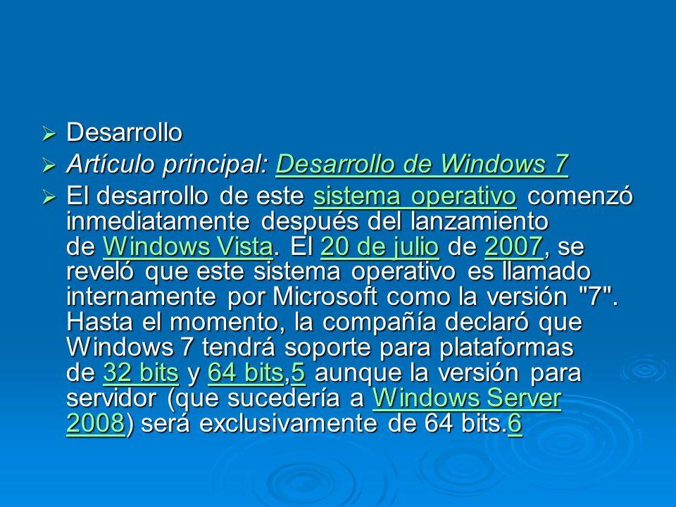 Windows 7 incluye numerosas nuevas actualizaciones, incluyendo avances en reconocimiento de voz, táctil y escritura, soporte para discos virtuales, mejor desempeño en procesadores multi-núcleo, mejor arranque y mejoras en el núcleo.