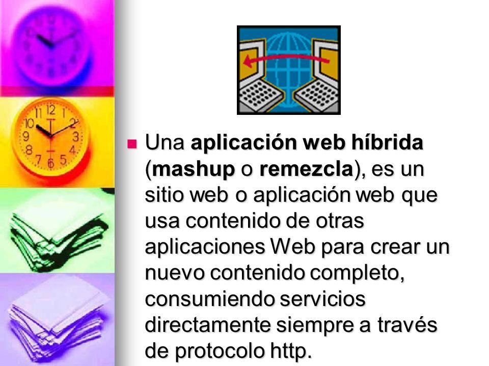 Mashup (aplicación web híbrida) Mashup (aplicación web híbrida)