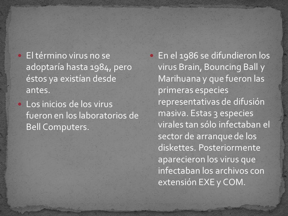 El primer virus que atacó a una máquina IBM Serie 360, fue Creeper(1972 por Robert Frankie Morrillo).