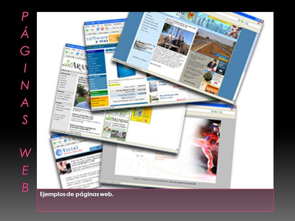 Ejemplos de páginas web.