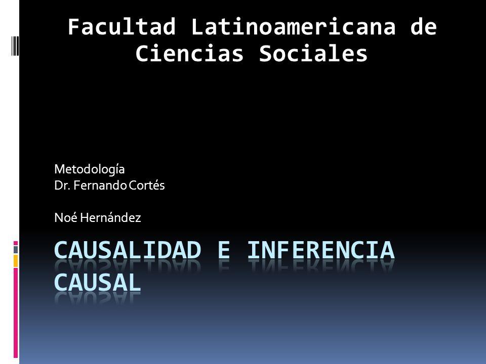 Metodología Dr. Fernando Cortés Noé Hernández Facultad Latinoamericana de Ciencias Sociales
