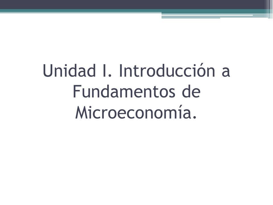 Unidad I Introducción a la Microeconomía Modelo: La economía se basa en la construcción de modelos de los fenómenos sociales.