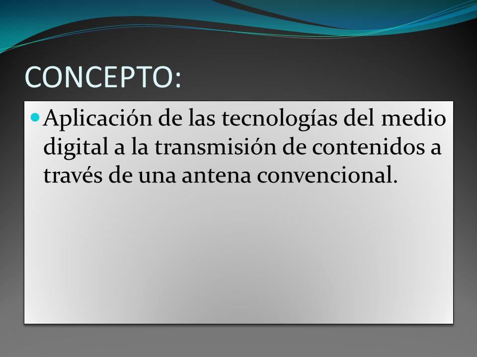 En la TDT se transforma la imagen, el audio y los datos en información digital, es decir, en bits.