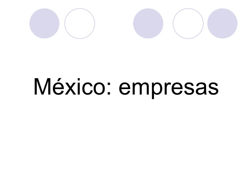 México: empresas