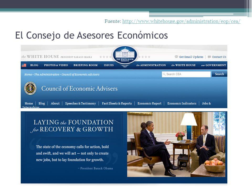 El Consejo de Asesores Económicos Fuente: http://www.whitehouse.gov/administration/eop/cea/http://www.whitehouse.gov/administration/eop/cea/
