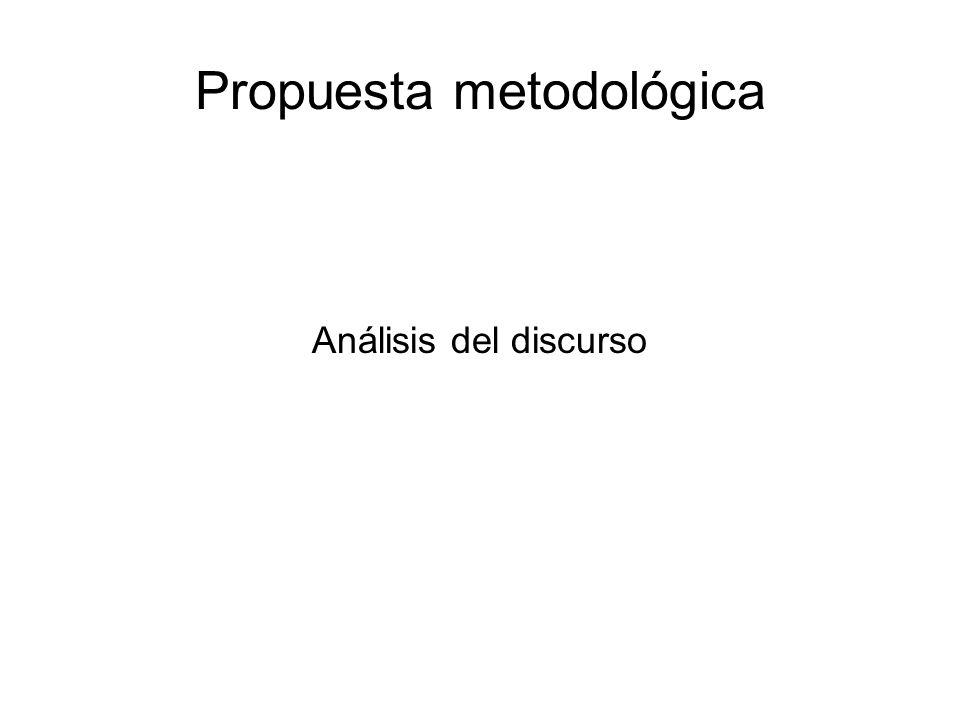 Propuesta metodológica Análisis del discurso