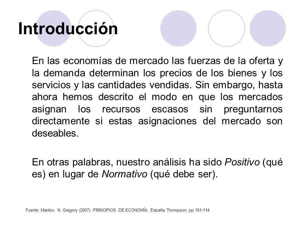 Introducción En las economías de mercado las fuerzas de la oferta y la demanda determinan los precios de los bienes y los servicios y las cantidades v