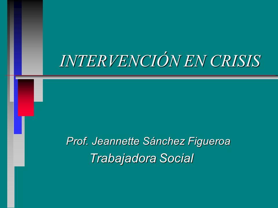 Definición de crisis n Situación o evento (o serie de eventos) para el cual no tenemos los mecanismos necesarios para manejarlo.