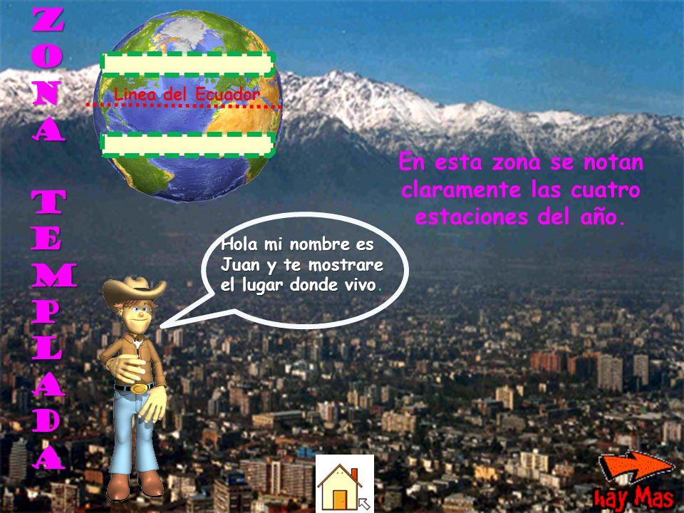 Z O N A T E M P L A D A Hola mi nombre es Juan y te mostrare el lugar donde vivo.