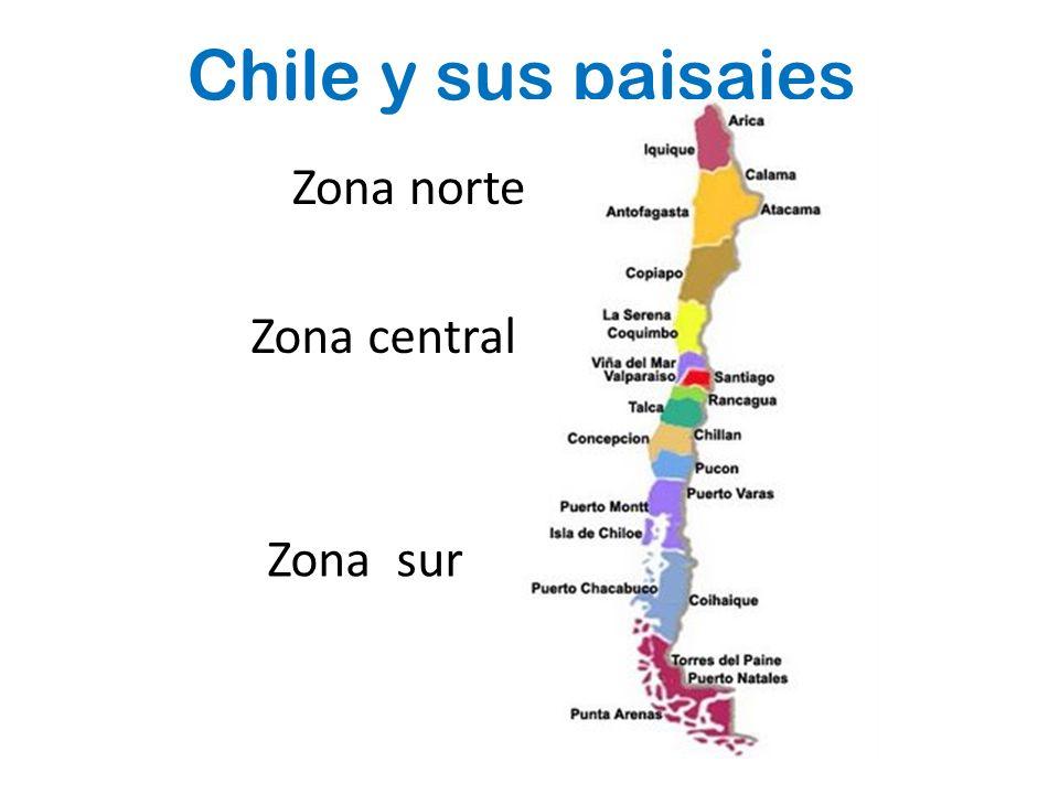 Chile y sus paisajes Zona norte Zona central Zona sur