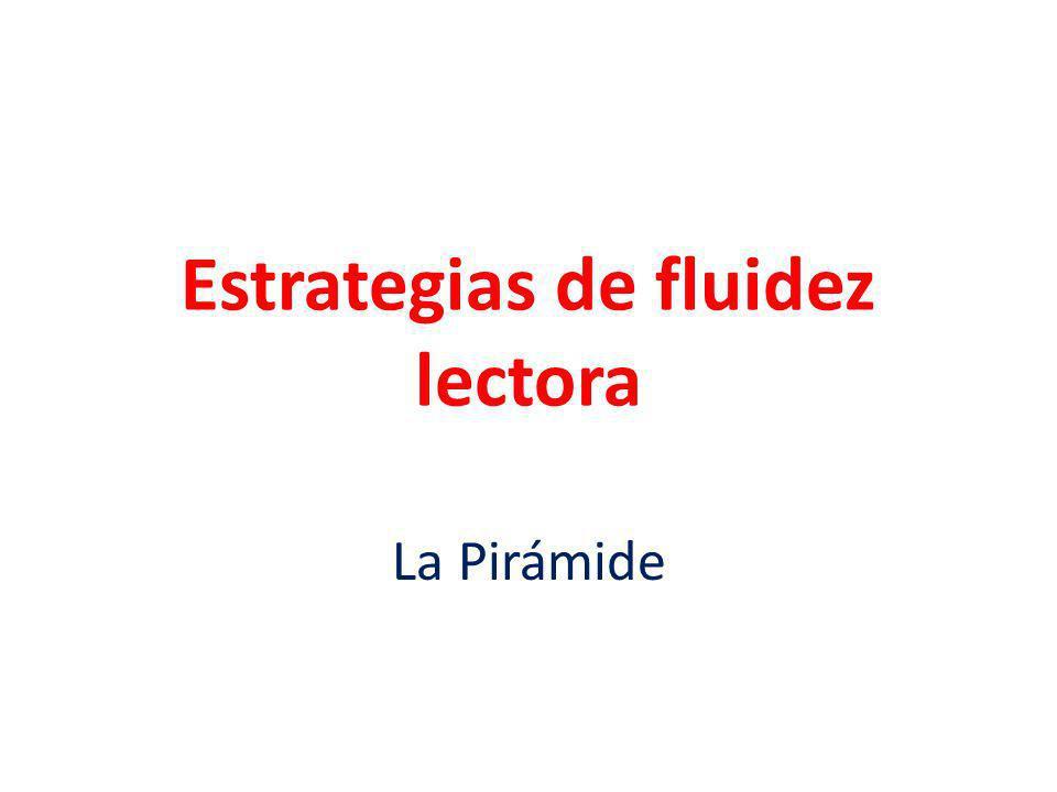 Estrategias de fluidez lectora La Pirámide
