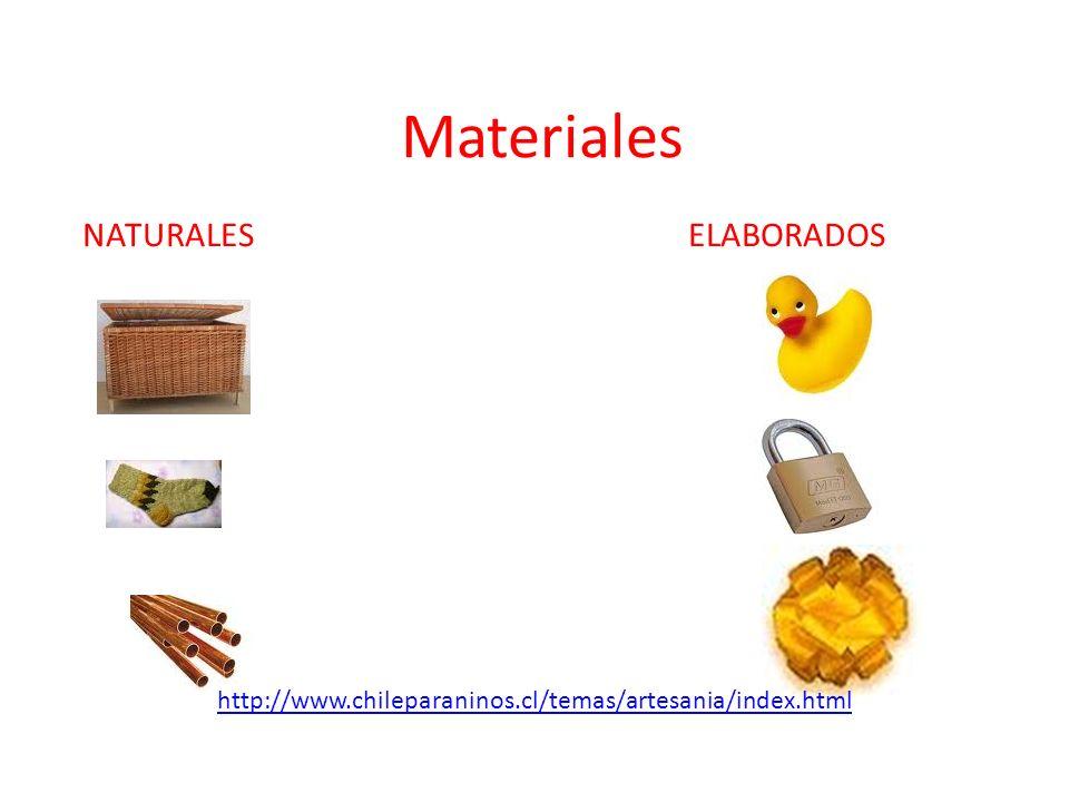 Materiales NATURALES ELABORADOS http://www.chileparaninos.cl/temas/artesania/index.html