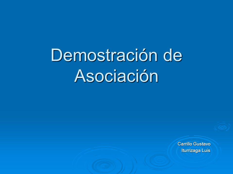 Demostración de Asociación Carrillo Gustavo Iturrizaga Luis
