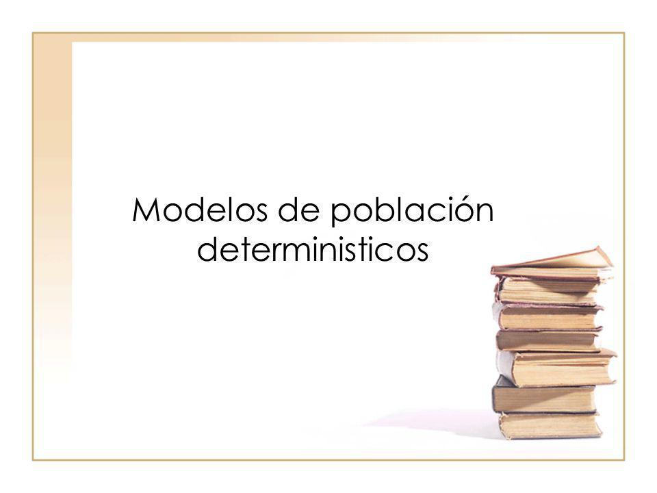 Modelos de población deterministicos
