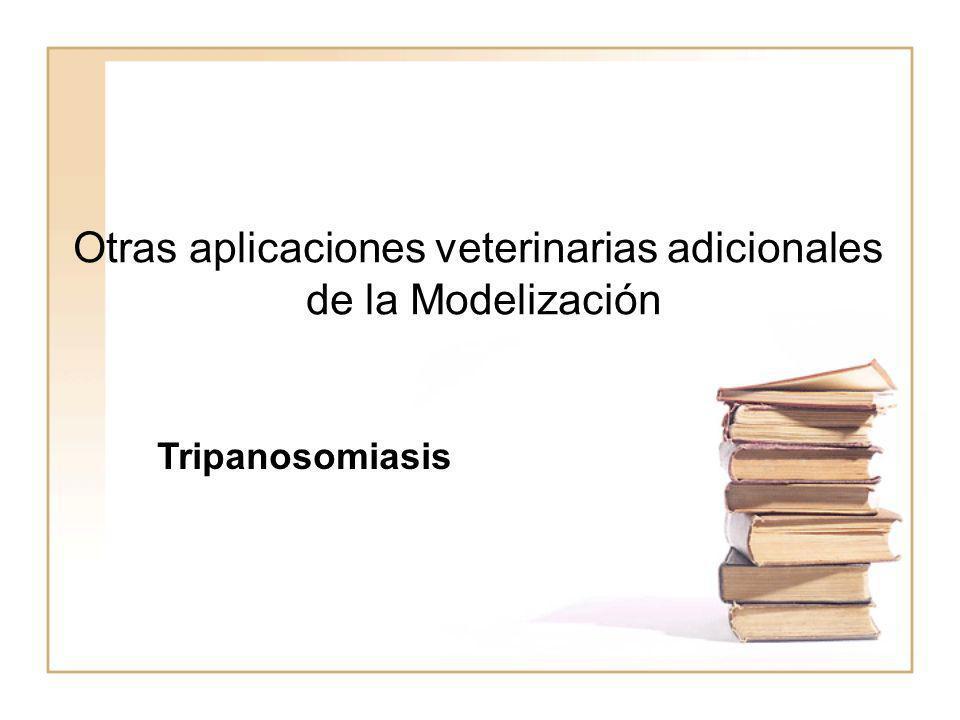 Otras aplicaciones veterinarias adicionales de la Modelización Tripanosomiasis