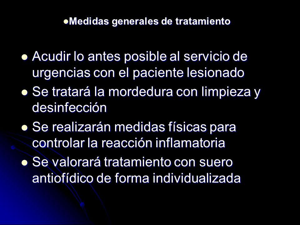 Acudir lo antes posible al servicio de urgencias con el paciente lesionado Acudir lo antes posible al servicio de urgencias con el paciente lesionado