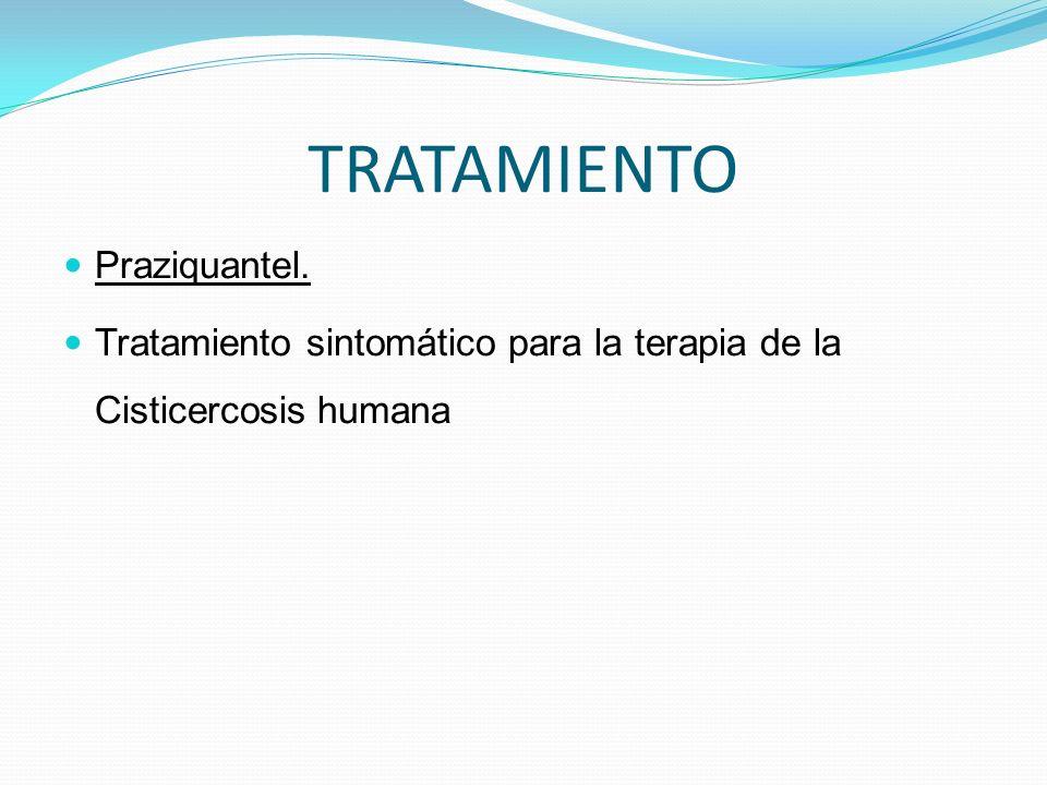 TRATAMIENTO Praziquantel. Tratamiento sintomático para la terapia de la Cisticercosis humana