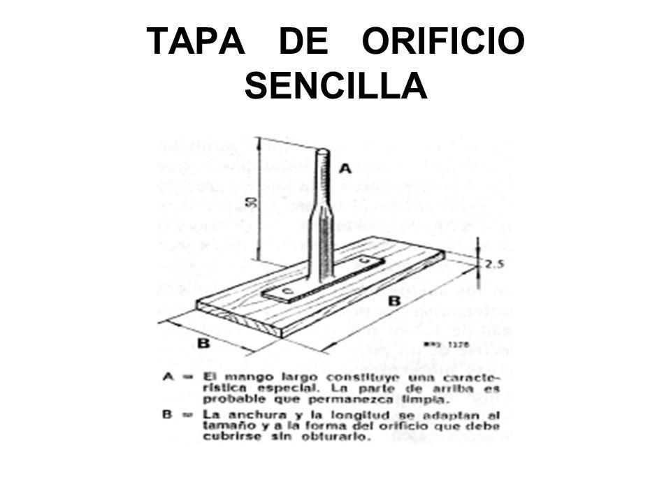 TAPA DE ORIFICIO SENCILLA