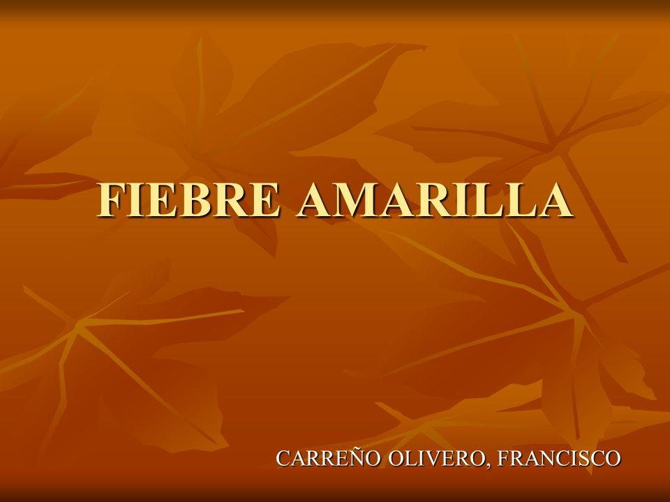 FIEBRE AMARILLA CARREÑO OLIVERO, FRANCISCO