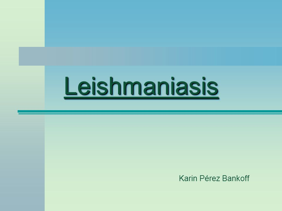 LeishmaniasisLeishmaniasis Karin Pérez Bankoff