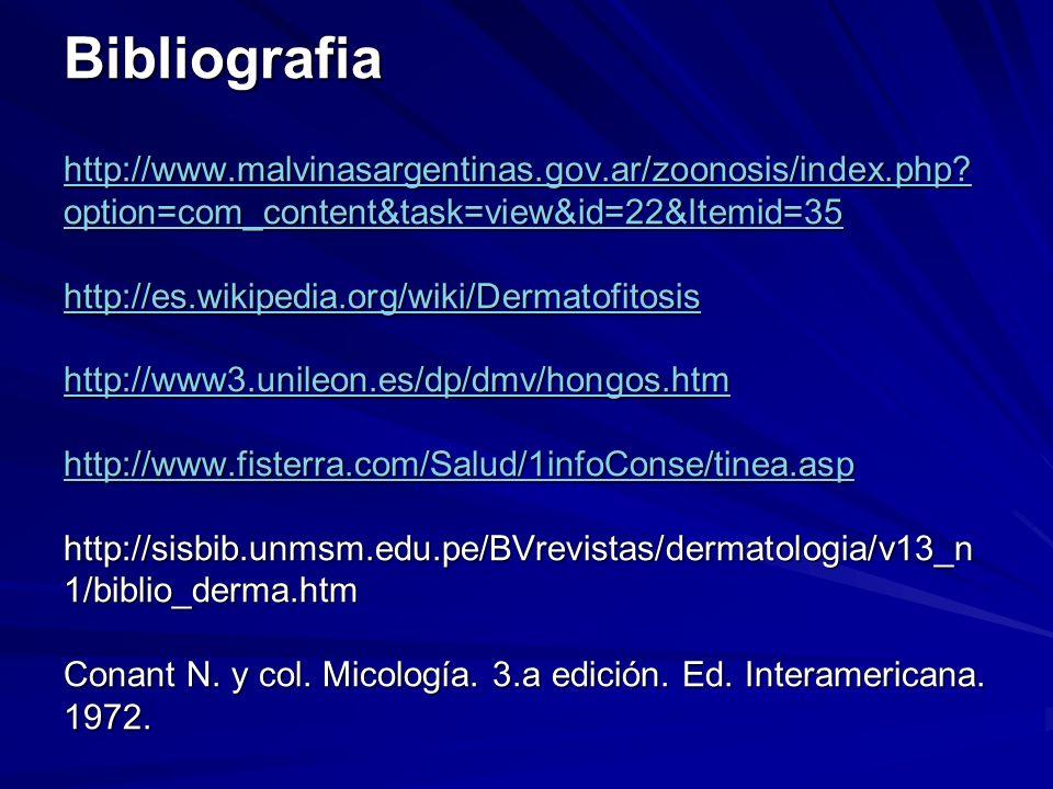 Bibliografia http://www.malvinasargentinas.gov.ar/zoonosis/index.php.