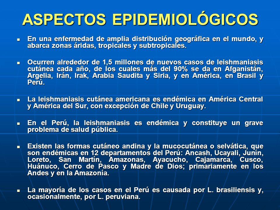 ASPECTOS EPIDEMIOLÓGICOS En una enfermedad de amplia distribución geográfica en el mundo, y abarca zonas áridas, tropicales y subtropicales. En una en